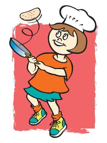pancake-girl-flipping-pink