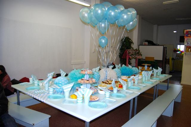 blue themed party